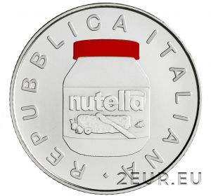 ITALY 2021 5 EURO - NUTELLA - RED