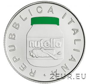 ITALY 2021 5 EURO - NUTELLA - GREEN
