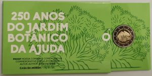 PORTUGAL 2 EURO 2018 - 250TH ANNIVERSARY OF THE AJUDA BOTANICAL GARDEN IN LISBON - PROOF