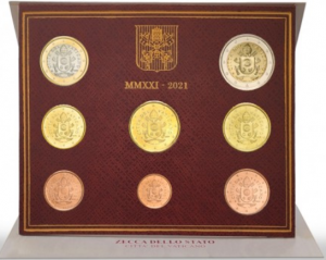 VATICAN 2021 - EURO COIN SET