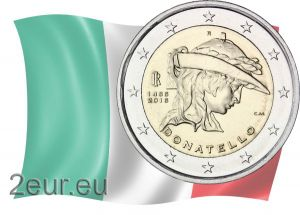 ITALY 2 EURO 2016 - 550TH ANNIVERSARY OF THE DEATH OF DONATELLO