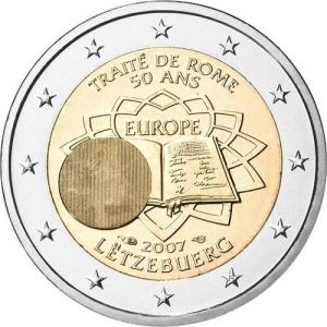 LUXEMBOURG 2 EURO 2007 - TREATY OF ROME