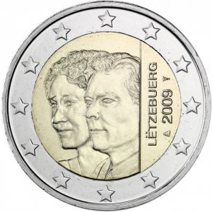LUXEMBOURG 2 EURO 2009 - 90TH ANNIVERSARY OF GRAND DUCHESS CHARLOTTE'S ACCESSION TO THE THRONE