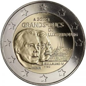 LUXEMBOURG 2 EURO 2012 - 100TH DEATH ANNIVERSARY OF GRAND DUKE WILHELM IV