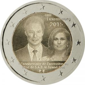 LUXEMBOURG 2 EURO 2015 - 15. ANNIVERSARY OF HENRI'S ACCESSION TO THE THRONE
