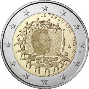LUXEMBOURG 2 EURO 2015 - 30 YEARS OF THE EU FLAG