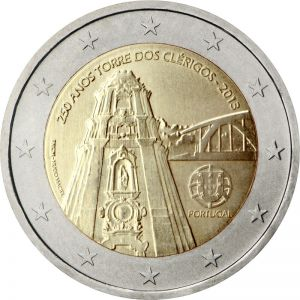 PORTUGAL 2 EURO 2013 - 250TH ANNIVERSARY OF THE CLERIGOS TOWER