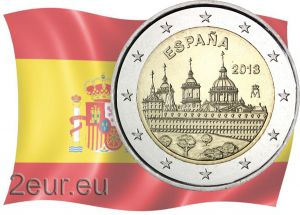 SPAIN 2 EURO 2013 - MONASTERY AND SITE OF THE ESCORIAL - MADRID