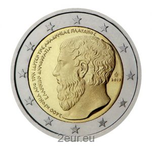 GREECE 2 EURO 2013 - FOUNDING OF THE PLATONIC ACADEMY