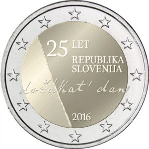 SLOVENIA 2 EURO 2016 - 25TH ANNIVERSARY OF INDEPENDENCE