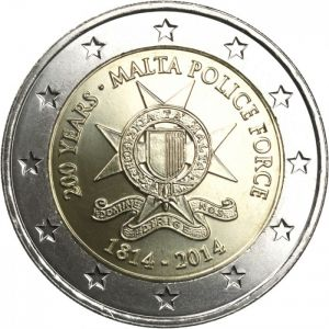 MALTA 2 EURO 2014 - 200 YEARS OF THE MALTA POLICE FORCE