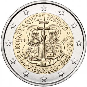 SLOVAKIA 2 EURO 2013 - SAINTS CYRIL AND METHODIUS