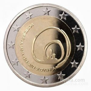 SLOVENIA 2 EURO 2013 - 800 YEARS OF DISCOVERY OF POSTOJNA'S CAVE PROOF