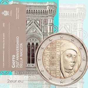 SAN MARINO 2 EURO 2017 - 750TH ANNIVERSARY OF THE BIRTH OF GIOTTO DI BONDONE