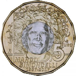 SAN MARINO 5 EURO 2017 - 30TH ANNIVERSARY OF THE BIRTH OF MARCO SIMONCELLI