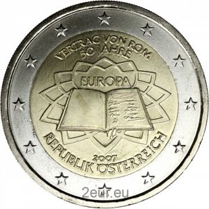 AUSTRIA 2 EURO 2007 - TREATY OF ROME
