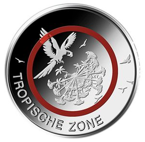 GERMANY 5 EURO 2017 - TROPISHE ZONE - F