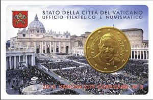 "VATICAN 2015 – 50 CENT COINCARD № 6 ""HOLY FATHER"""