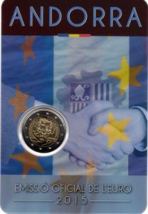 ANDORRA 2 EURO 2015 - 25 YEARS OF CUSTOMS UNION WITH THE EU