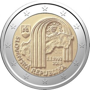 SLOVAKIA 2 EURO 2018 - 25TH ANNIVERSARY OF THE SLOVAK REPUBLIC