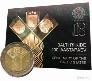 ESTONIA 2 EURO 2018 - 100TH ANNIVERSARY OF THE INDEPENDENCE OF THE BALTIC STATES (BU)