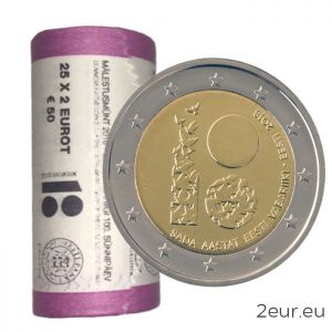 ESTONIA 2 EURO 2018 - 100TH ANNIVERSARY OF THE REPUBLIC OF ESTONIA