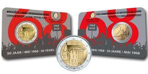 BELGIUM 2 EURO 2018 - 50TH ANNIVERSARY OF MAY 1968