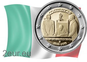ITALY 2 EURO 2018 - 70TH ANNIVERSARY OF THE CONSTITUTION OF THE ITALIAN REPUBLIC