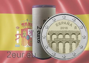 SPAIN 2 EURO 2016 - AQUEDUCT OF SEGOVIA r