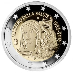 ITALY 2 EURO 2018 - 70TH ANNIVERSARY OF THE ITALIAN MINISTRY OF HEALTH