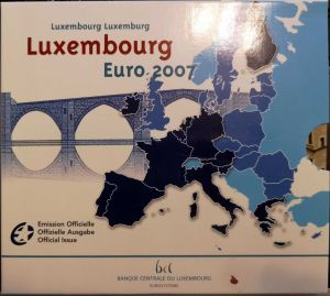 LUXEMBOURG 2007 - EURO COIN SET BU