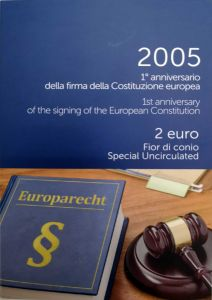 ITALY 2 EURO 2005 - EUROPEAN CONSTITUTION - COIN CARD