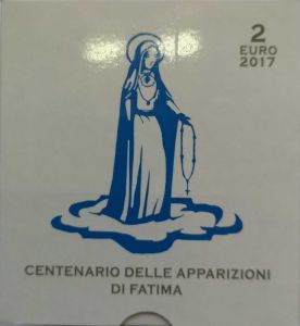 VATICAN 2 EURO 2017 - 100 YEARS OF FATIMA APPEARANCE - PROOF